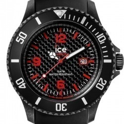 Montre Homme Ice Watch Ice Carbon CA3HBKBS15 Bracelet Silicone
