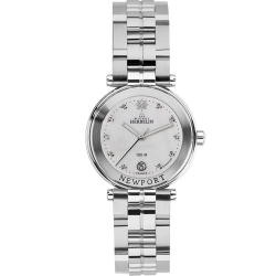 Montre Femme Michel Herbelin Newport Diamants 14285/B89 Bracelet Acier